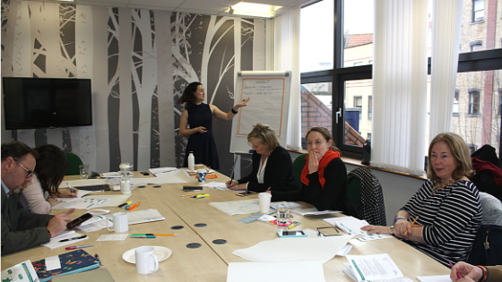 Workshop marketing with a wide target market.