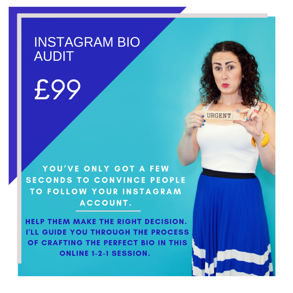 £99 Instagra,m bio audit